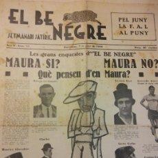 Coleccionismo de Revistas y Periódicos: EL BE NEGRE. ANY II NÚM 51. BARCELONA, JUNY 1932. SETMANARI SATÍRIC.. Lote 198678275