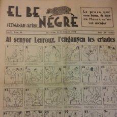 Coleccionismo de Revistas y Periódicos: EL BE NEGRE. ANY II NÚM 49. BARCELONA, MAIG 1932. SETMANARI SATÍRIC.. Lote 198678416