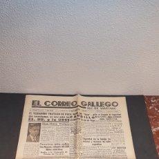 Coleccionismo de Revistas y Periódicos: EJEMPLAR ORIGINAL DEL DIARIO FERROLANO EL CORREO GALLEGO, DEL SABADO 14 DE SEPT. DE 1946. Lote 198722901