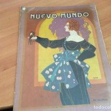 Coleccionismo de Revistas y Periódicos: NUEVO MUNDO 1 ABRIL 1921 HUNDIMIENTO CAFE LION D'OR, ARGÜELLES, TRACTOR CLETRAC (AB-2). Lote 198736817