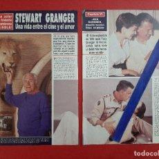 Coleccionismo de Revistas y Periódicos: STEWART GRANGER - RECORTE 10 PAG AÑO 1990. Lote 198752317