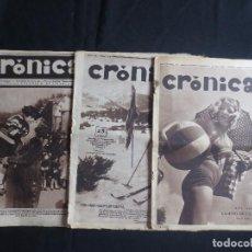 Coleccionismo de Revistas y Periódicos: 3 EJEMPLARES REVISTA DE LA SEMANA CRONICA AÑOS 1931 - 1932 - 1934. Lote 198782578