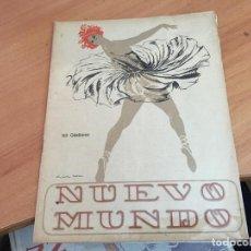 Coleccionismo de Revistas y Periódicos: NUEVO MUNDO 9 NOVIEMBRE 1923 CERTAMEN AUTOMOVILISTICO AUTODROMO SITGES (AB-2). Lote 198836842