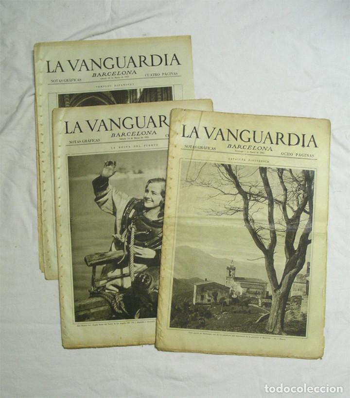 LA VANGUARDIA NOTAS GRAFICAS AÑO 1935 8 MESES COMPLETOS LISTA PUBLICADA (Coleccionismo - Revistas y Periódicos Antiguos (hasta 1.939))