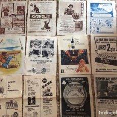Coleccionismo de Revistas y Periódicos: PUBLICIDAD LOTE 12. Lote 198884883