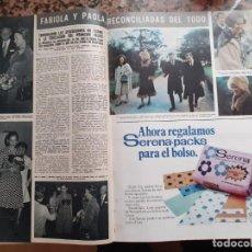 Coleccionismo de Revistas y Periódicos: FABIOLA DE BELGICA PAOLA DE LIETJA. Lote 198932895