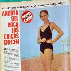 Coleccionismo de Revistas y Periódicos: ANDREA DEL BOCA CLIPPINGS RECORTE 1980 REVISTA ARGENTINA.. Lote 198964801