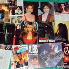 Coleccionismo de Revistas y Periódicos: SIGOURNEY WEAVER ALIEN RECORTES CLIPPINGS . Lote 198965006