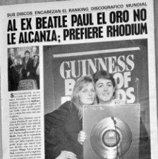 Coleccionismo de Revistas y Periódicos: PAUL MC CARTNEY THE BEATLES REVISTA ARGENTINA MAGAZINE.. Lote 198965060