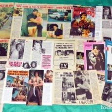 Coleccionismo de Revistas y Periódicos: EL INCREÍBLE HULK LOU FERRIGNO Y BILL BIXBY RECORTES CLIPPINGS. Lote 198969543