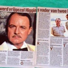Coleccionismo de Revistas y Periódicos: JOHN HILLERMAN MAGNUM PI TOM SELLECK NETHERLAND CLIPPINGS RECORTE. Lote 198972800