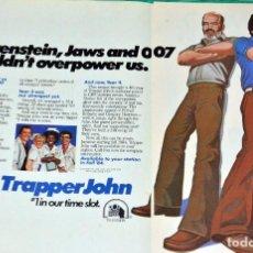 Coleccionismo de Revistas y Periódicos: PERNELL ROBERTS TRAPPER JOHN, M.D.GREGORY HARRISON PUBLICIDAD ADVICE MAGAZINE USA CLIPPINGS. Lote 199160542
