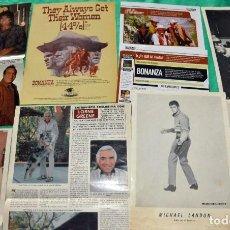 Coleccionismo de Revistas y Periódicos: BONANZA LORNE GREENE MICHAEL LANDON RECORTES CLIPPINGS . Lote 199162275
