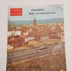 Coleccionismo de Revistas y Periódicos: CENICERO - REVISTA EL CORREO DE LA RIOJA - CAR179. Lote 199168856