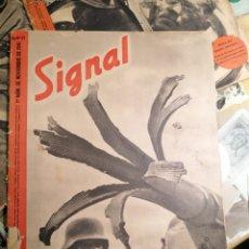 Coleccionismo de Revistas y Periódicos: SIGNAL REVISTA 1941-1942 N*9-12 Y 21 TAL FOTOS. Lote 199186158