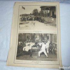 Coleccionismo de Revistas y Periódicos: CHALET DEL TIRO DE PICHON DE LA CASA DE CAMPO DE MADRID HOJA BLANCO Y NEGRO 1915. Lote 199737576