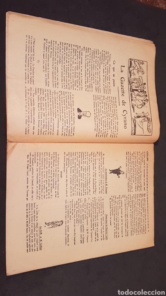 Coleccionismo de Revistas y Periódicos: LA GAZETTE SATIRIQUE DE CYRANO. PARIS, FRANCIA. ANNEE 1925, Dimanche 9 Aout. Revista satírica CYRANO - Foto 9 - 199975101