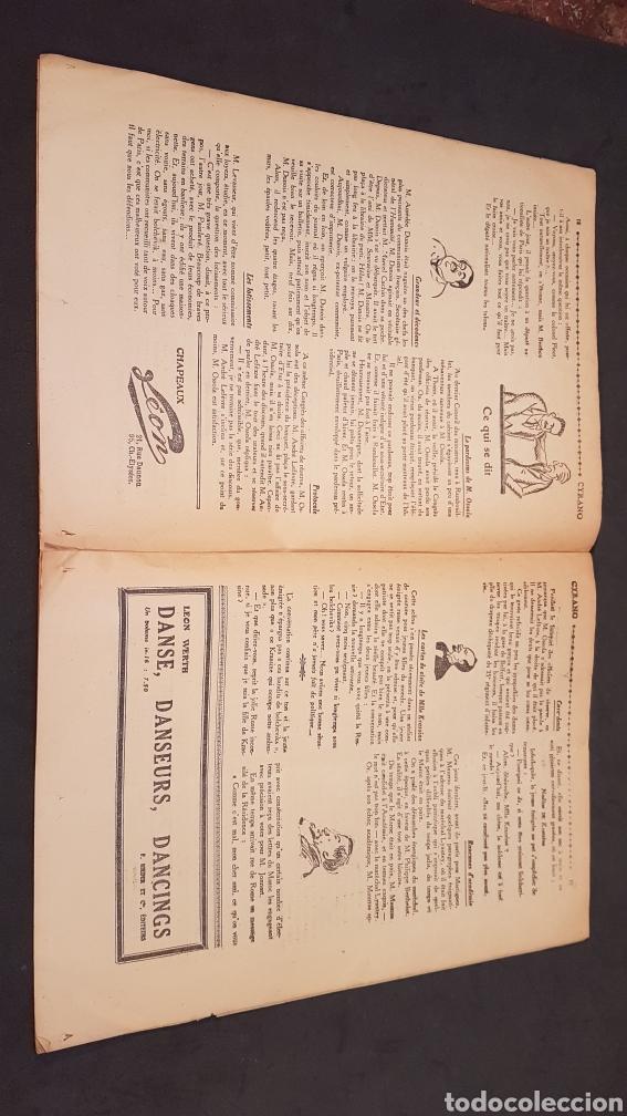 Coleccionismo de Revistas y Periódicos: LA GAZETTE SATIRIQUE DE CYRANO. PARIS, FRANCIA. ANNEE 1925, Dimanche 9 Aout. Revista satírica CYRANO - Foto 10 - 199975101