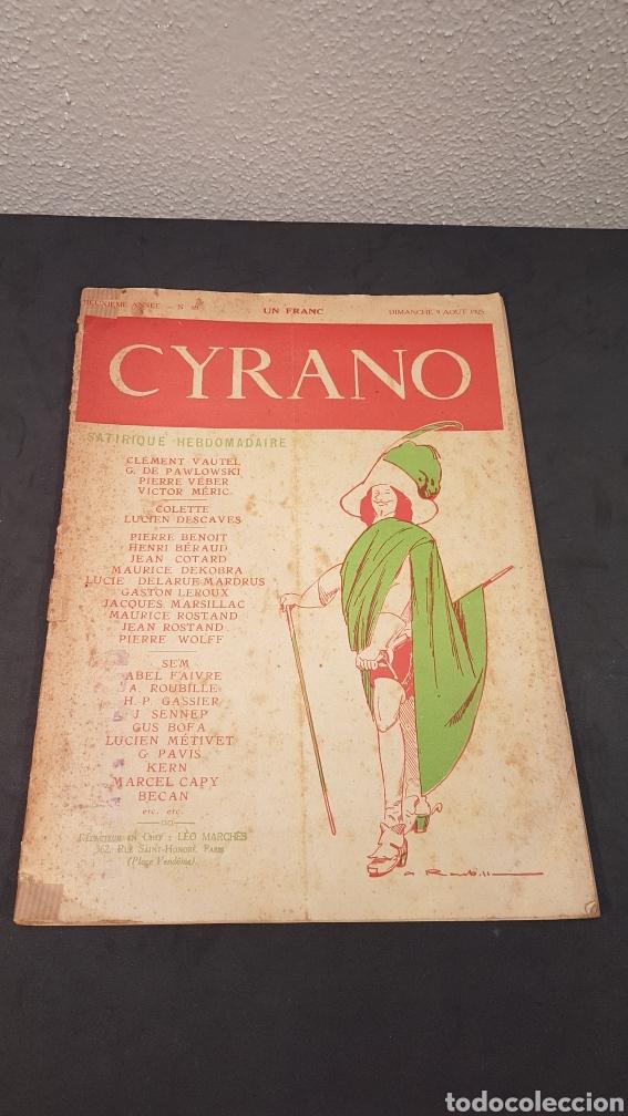LA GAZETTE SATIRIQUE DE CYRANO. PARIS, FRANCIA. ANNEE 1925, DIMANCHE 9 AOUT. REVISTA SATÍRICA CYRANO (Coleccionismo - Revistas y Periódicos Antiguos (hasta 1.939))