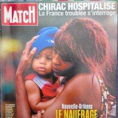 Coleccionismo de Revistas y Periódicos: REVISTA PARIS MATCH, ESPECIAL HURACÁN NUEVA ORLEANS, SEPTIEMBRE 2005 /// KATRINA NATIONAL GEOGRAPHIC. Lote 200644961