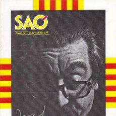 Coleccionismo de Revistas y Periódicos: REVISTA SAÓ - EXTRAORDINARI 1992 - JOAN FUSTER - SUECA. Lote 201186581