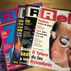 Coleccionismo de Revistas y Periódicos: LOTE DE 8 REVISTAS RED (REVISTA DE INTERNET) - NÚMEROS: 15,17,18,19,20,21,22,23. Lote 201265000
