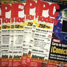 Coleccionismo de Revistas y Periódicos: LOTE 7 REVISTAS PC TODAY - NÚMEROS: 1 AL 7 - REVISTA QUINCENAL INFORMÁTICA E INTERNET. Lote 201266002