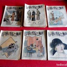 Coleccionismo de Revistas y Periódicos: LOTE DE 37 REVISTAS DE MODA AÑOS 20 - LE PETIT ÉCHO DE LA MODE -. Lote 201285100