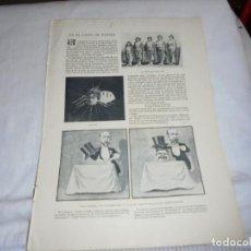 Collezionismo di Riviste e Giornali: EN EL CIRCO DE PARIS.LAS HERMANAS BELLATZER.HOJA DE REVISTA BLANCO Y NEGRO 1902. Lote 201318357