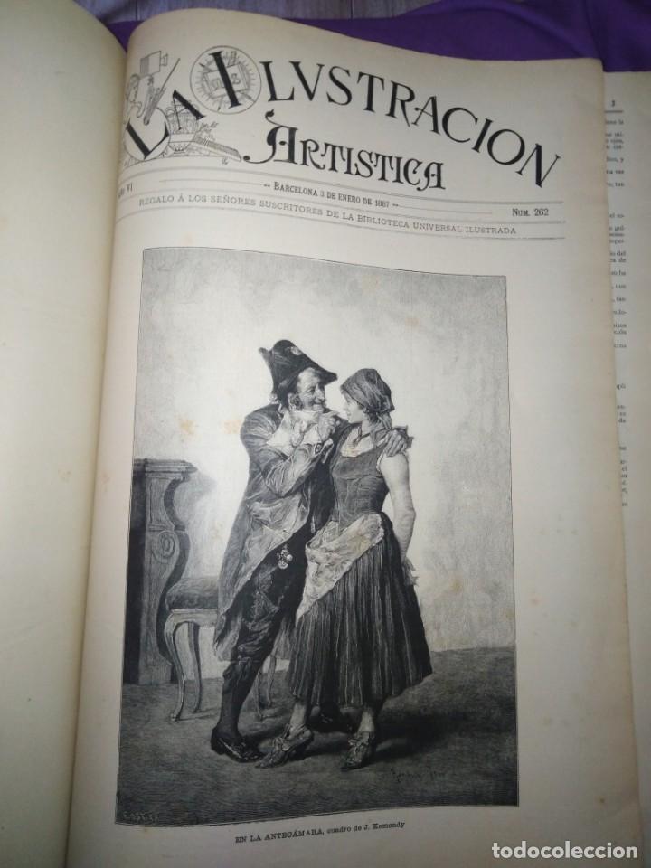Coleccionismo de Revistas y Periódicos: ILUSTRACION ARTISTICA AÑO COMPLETO 1887 MONTANER Y SIMON - Foto 5 - 201334616