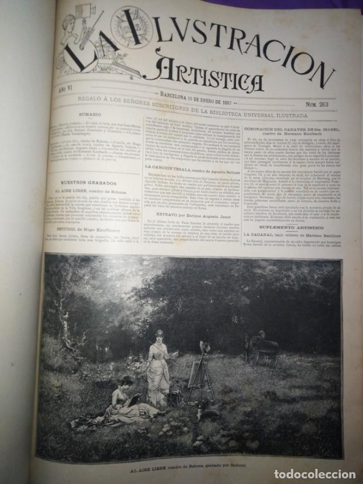 Coleccionismo de Revistas y Periódicos: ILUSTRACION ARTISTICA AÑO COMPLETO 1887 MONTANER Y SIMON - Foto 8 - 201334616