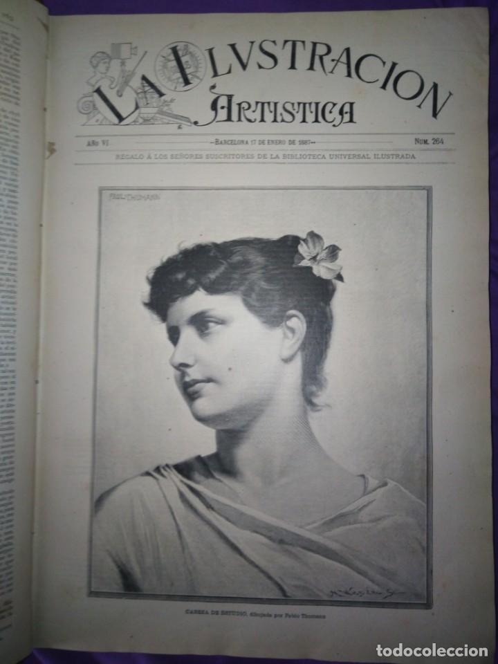 Coleccionismo de Revistas y Periódicos: ILUSTRACION ARTISTICA AÑO COMPLETO 1887 MONTANER Y SIMON - Foto 10 - 201334616