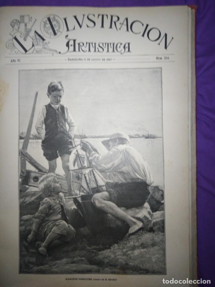 Coleccionismo de Revistas y Periódicos: ILUSTRACION ARTISTICA AÑO COMPLETO 1887 MONTANER Y SIMON - Foto 14 - 201334616