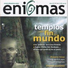 Coleccionismo de Revistas y Periódicos: REVISTA ENIGMAS: LOS TEMPLOS DEL FIN DEL MUNDO. Lote 201524197