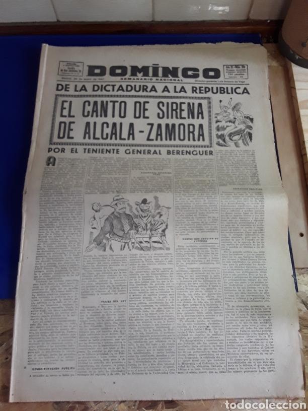 ANTIGUO PERIÓDICO DOMINGO(SEMANARIO NACIONAL)(26 DE ENERO DE 1947) (Coleccionismo - Revistas y Periódicos Modernos (a partir de 1.940) - Otros)