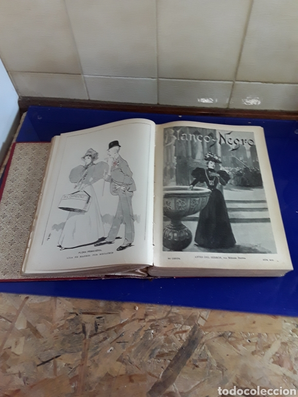 Coleccionismo de Revistas y Periódicos: Revistas encuadernados del siglo XIX EN BLANCO Y NEGRO AÑO 1897,desde el n°296al n°346 - Foto 2 - 201608142