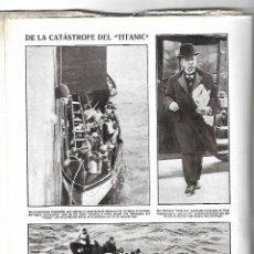 Coleccionismo de Revistas y Periódicos: 1912 CATASTROFE TITANIC INAUGURACION CANAL DEL EBRO TORTOSA PUENTE FERROCARRIL TAFALLA PAMPLONA RUTE. Lote 202026112