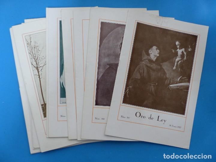 ORO DE LEY, 12 ANTIGUAS REVISTAS, AÑO 1927, VER FOTOS ADICIONALES (Coleccionismo - Revistas y Periódicos Antiguos (hasta 1.939))