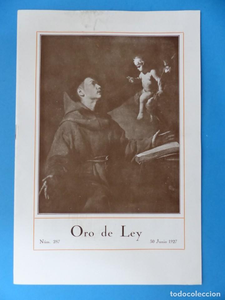 Coleccionismo de Revistas y Periódicos: ORO DE LEY, 12 ANTIGUAS REVISTAS, AÑO 1927, VER FOTOS ADICIONALES - Foto 2 - 202469777