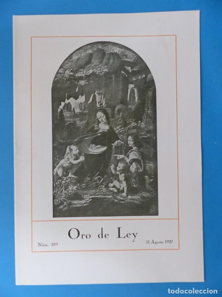 Coleccionismo de Revistas y Periódicos: ORO DE LEY, 12 ANTIGUAS REVISTAS, AÑO 1927, VER FOTOS ADICIONALES - Foto 4 - 202469777