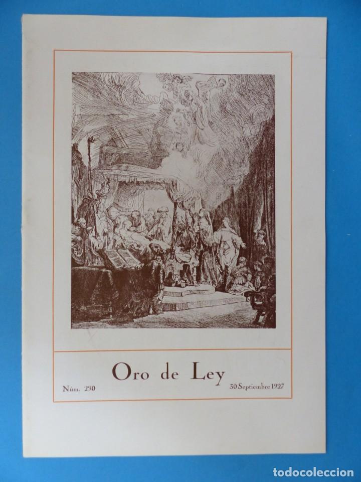 Coleccionismo de Revistas y Periódicos: ORO DE LEY, 12 ANTIGUAS REVISTAS, AÑO 1927, VER FOTOS ADICIONALES - Foto 5 - 202469777