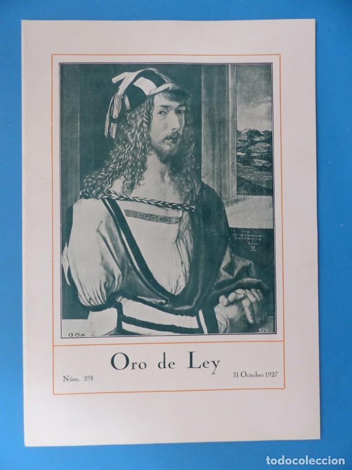 Coleccionismo de Revistas y Periódicos: ORO DE LEY, 12 ANTIGUAS REVISTAS, AÑO 1927, VER FOTOS ADICIONALES - Foto 6 - 202469777