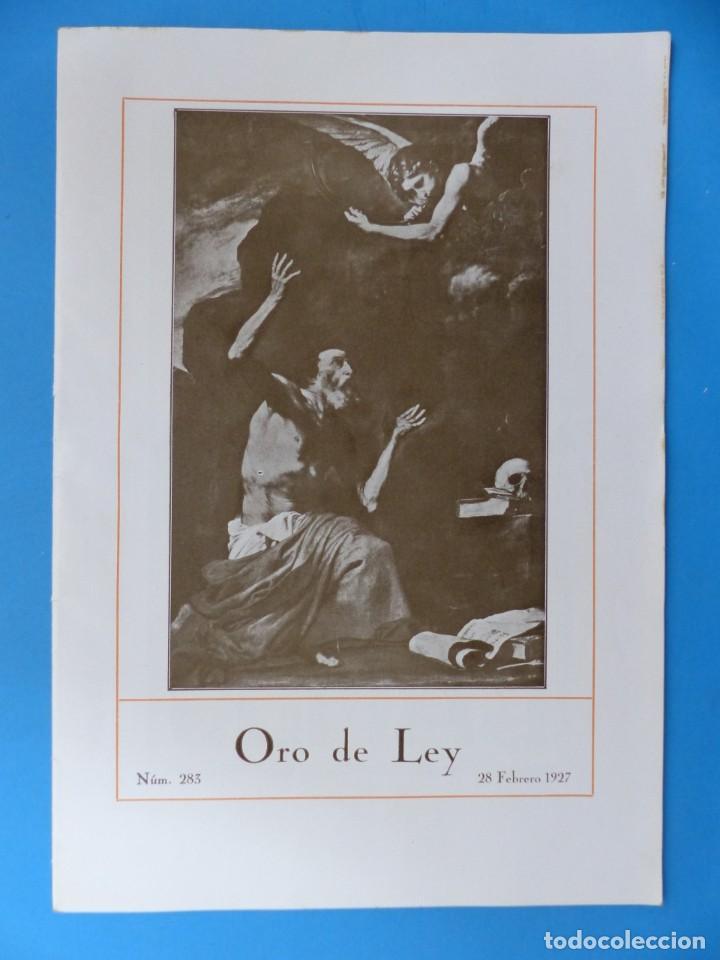 Coleccionismo de Revistas y Periódicos: ORO DE LEY, 12 ANTIGUAS REVISTAS, AÑO 1927, VER FOTOS ADICIONALES - Foto 9 - 202469777