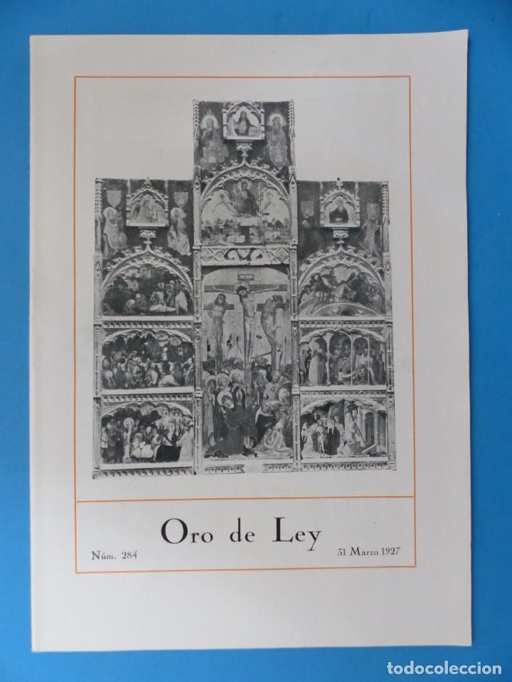 Coleccionismo de Revistas y Periódicos: ORO DE LEY, 12 ANTIGUAS REVISTAS, AÑO 1927, VER FOTOS ADICIONALES - Foto 10 - 202469777