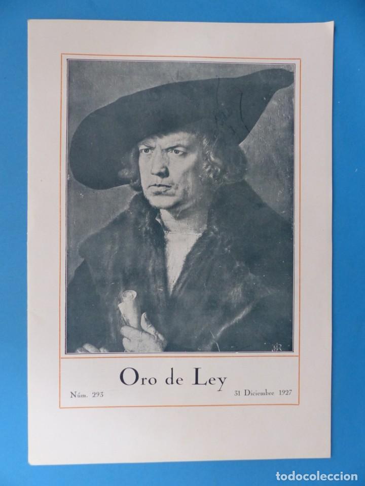 Coleccionismo de Revistas y Periódicos: ORO DE LEY, 12 ANTIGUAS REVISTAS, AÑO 1927, VER FOTOS ADICIONALES - Foto 13 - 202469777