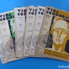 Coleccionismo de Revistas y Periódicos: VIDA CORPORATIVA, 12 ANTIGUAS REVISTAS, AÑOS 1934-1936, 2 EXTRAORDINARIOS, VER FOTOS ADICIONALES. Lote 202470238