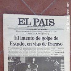 Coleccionismo de Revistas y Periódicos: EL PAÍS MADRID 24 F - 24 FEBRERO 1981 - TEJERO ASALTA EL CONGRESO. Lote 202559963