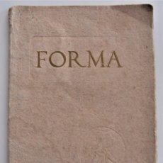 Coleccionismo de Revistas y Periódicos: REVISTA ARTÍSTICA FORMA Nº 17 - BERUETE - IMPRESO POR ESTABLECIMIENTO THOMAS, BARCELONA. Lote 202635071