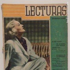 Coleccionismo de Revistas y Periódicos: LECTURAS DICIEMBRE 1936. Lote 202733497