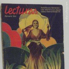Coleccionismo de Revistas y Periódicos: LECTURAS FEBRERO 1932. Lote 202733597